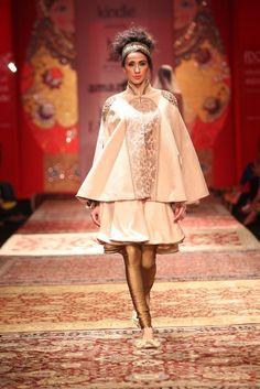 #AIFW #IndianFashion #AIFWAW15 #AW15 #JJValaya #Russian #BolshoiBazaar #Kindle #Dollface #Layering #Lehenga #Sheer #Gold #Drapes #Pleats