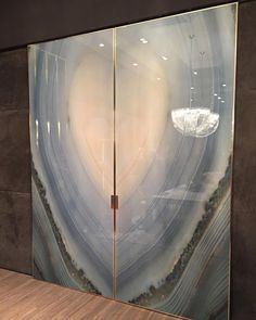 Precious Stones Agata Azzurra #salone2016 #granitifiandre #tile #design…