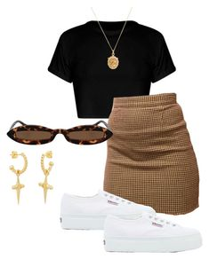 """Untitled #172"" by amaraelizabeth ❤ liked on Polyvore featuring Rachel Essex and Superga"
