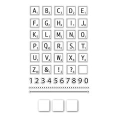 Simon Says Stamps and Die Set LETTER TILES SetLT204 The Color of Fun