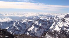 It's not every day that you look down on mountains that look down on clouds (January 2011)