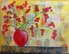 quadro dipinto realizzato a mano in acrilico di CeciliaFart