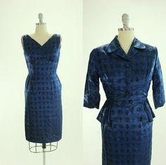 1950er Jahren asiatische Neuheit Print Kleid von SquirrelFriendVNTG