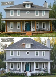 Fabulous country porch makeover