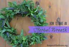 How to Make an Herbal Wreath