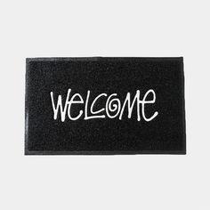 Stussy -  PVC Welcome Mat Black #stussy #homedecor #home #homesweethome