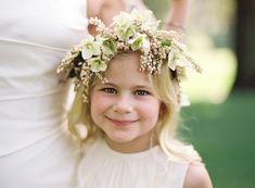 Pretty flower girl crown of hellebores and pieris japonica ~ we ❤ this! moncheribridals.com