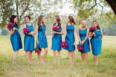 outdoor vintage wedding blue pink wedding colors