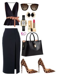 """Untitled #3222"" by kenndee ❤ liked on Polyvore featuring Roksanda, Christian Louboutin, Prada, Marc Jacobs, Scanlan Theodore, H&M, Bounkit and Yves Saint Laurent"