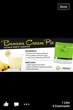 Delish!! Love these protein shakes... Low carb, low calorie, lots of different recipes, taste great!! www.itworksforcarren.myitworks.com