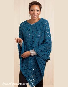 Craft Passions: Lace poncho.# free #crochet pattern link here