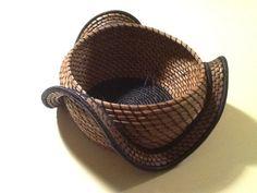 Pine needle basket by Barebottombaskets on Etsy
