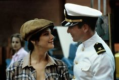 Paula (Debra Winger) and Zack (Richard Gere) ~ An Officer And A Gentleman Richard Gere, Best Movie Couples, Famous Couples, Nora Ephron, Top Romantic Movies, Romance Movies, Drama Movies, Celebrity Feuds, Debra Winger