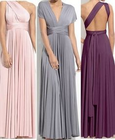 Brides maid dresses....they are convertible dresses that are styled according to the girl wearing it. PETES! this means all of us can wear the same dress but wear it how we feel most comfortable.