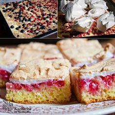 Czech Recipes, Vanilla Cake, Cereal, Food And Drink, Sweets, Cooking, Breakfast, Czech Food, Cakes