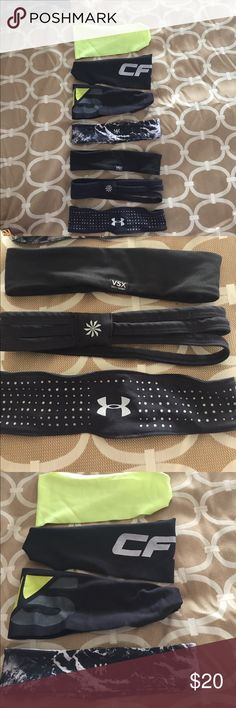 Headbands Bundle of 7 headbands 2 under armor 1 vs 3 wide and 1 with 3 thin bands price to sell quick nothing wrong with them Under Armour Accessories Hair Accessories