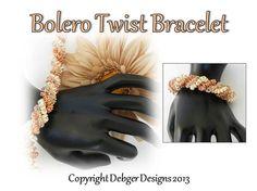 Bolero Twist Twin Bracelet  Pattern Tutorial by DebgerDesigns on Etsy, $7.50
