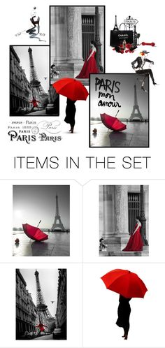"""Paris Mon Amour"" by fractallicious ❤ liked on Polyvore featuring art"