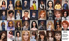 Many Fashion doll repaints and BJD faceup by MerryDoll