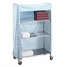 R Wire 244872C 24 in. x 48 in. x 72 in. Metal Frame Linen Cart Nylon Cover by R Wire. $146.28. Size: 24 W x 48 L x 72 H.. Covers are constructed from rugged 200 denier urethane coated nylon which is flame retardant and. These nylon flame retardant covers provide maximum protection for your fresh linen.. Color: Blue, Whote, Yellow and Mauve.. Closes with Velcro on both sides.. These nylon flame retardant covers provide maximum protection for your fresh linen...