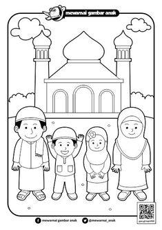 Gambar Mewarnai Ramadhan Cupcake Coloring Pages, Disney Coloring Pages, Coloring For Kids, English Worksheets For Kids, Preschool Worksheets, Preschool Activities, Ramadan Activities, Ramadan Crafts, Teaching Kids