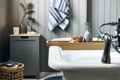 Not quite a dip in the sea… but close. Get the look with our Shore bathroom range.
