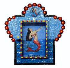 Mexican Nichos | ... of mexican tin nichos mirrors both as folkart painted and filled as