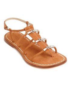 Take a look at this Luggage Leather Maia Sandal by Bernardo on #zulily today!