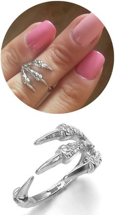 Do the chickens have large talons ring Jewelry Crafts, Jewelry Box, Jewelry Accessories, Midi Rings, Looks Cool, Diamond Are A Girls Best Friend, Girly Things, Jewerly, Fashion Jewelry
