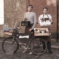 Edward Godden and Joseph Lewis, who - thanks to an old bike and a bit of Instagram magic - could have stepped out of the 1940s themselves. An age when service wasn't dead...