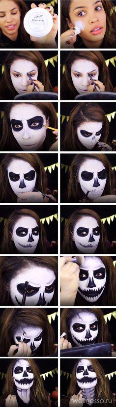 макияж на хэллоуин для девушек,