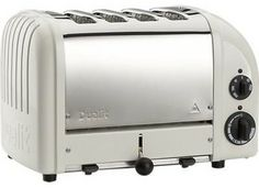 Dualit NewGen Canvas White 4-Slice Toaster - contemporary - toasters - Crate&Barrel