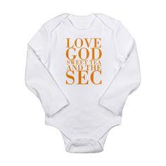 d48591922d LOVE GOOD SWEET TEA AND THE SEC VOLS Body Suit on CafePress.com  Vols
