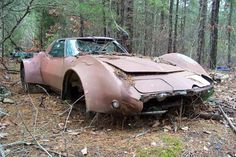 Old Georgia Barns for Sale | Barn Find: Flared C3 Corvette Put Out to Pasture