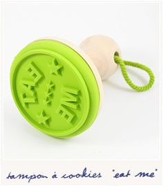 Eat me cookie stamp by Bird on the wire #decoration #homedecor #home #lime #green #kitchenware #bakery