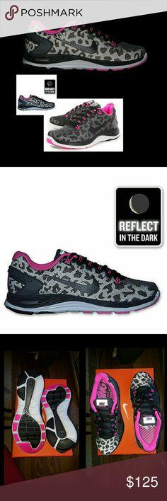 Nike Lunarglide+ 5 Shield 3M Black Pink Leopard >>Brand New<< A standout