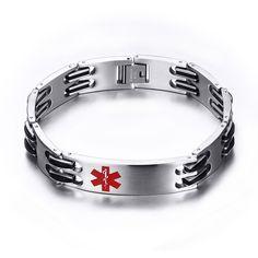 Link Chain Medical Alert ID Bracelet