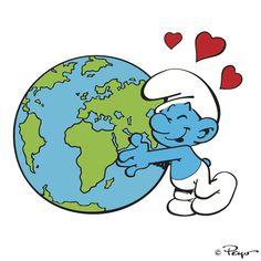 Be kind because the world is BLUEtiful! Looney Tunes Cartoons, Cool Cartoons, Favorite Cartoon Character, Comic Character, Disney Princess Cartoons, World Kindness Day, Smurfette, Cartoon Network Adventure Time, Cartoon Drawings