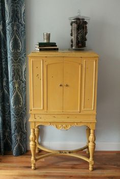 Radio cabinet in Miss Mustard Seed yellow