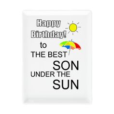 Best son under sun Rectangular Cocktail Plate on CafePress.com