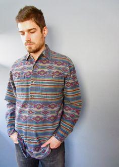 Mens Southwestern Shirt // by preaime2, $28.00