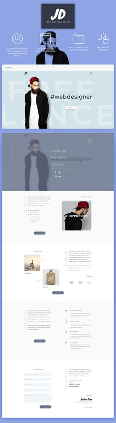 Brilliant stuff from Sandhy Nugraha. This modern one page layout will help you design unique one page layouts with minimal style and elegance. You'll love it. Enjoy! File Type: PSD File Size: 1 MB Share onYou may also like Signup Form PSD Wooder – Website PSD Template Flying iPad Pro Mockup Exe – Free Multipurpose …