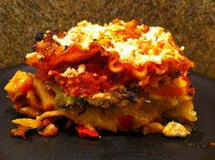 """Raise the Roof"" Sweet Potato Vegetarian Lasagna  - Forks Over Knives recipe book"