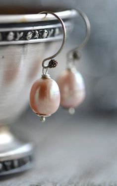 Classic Pearl Earrings Christmas Earrings Rose Wedding