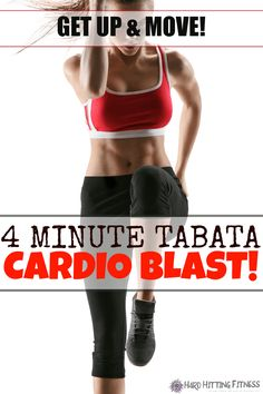 This 4 minute cardio workout really got me breathing hard! Awesome way to add some cardio to my strength training or just to get in a short cardio session! Fit Board Workouts, Fun Workouts, Fitness Tips, Fitness Motivation, Fitness Exercises, Fitness Goals, Tabata Cardio, Printable Workouts, Do Exercise