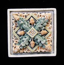 OAK ACORN GARDEN ARTS & CRAFTS GOTHIC ELLISON TILE