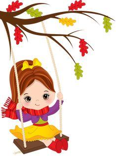 Cute little girl swinging on swing Royalty Free Vector Image Girl Swinging, Dibujos Cute, Purple Wine, Girl Falling, Cute Little Girls, Drawing For Kids, Fabric Painting, Chibi, Vector Free