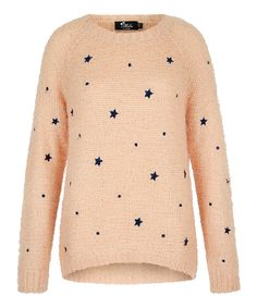 This Light Pink Embroidered Stars Sweater by Mela London is perfect! #zulilyfinds