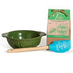 """Dee-vine™ Garden Green Dipper's Delight, Cucumber Dip - This bundle will have you singing """"Dippity-Do-Dah, Dippity-Yay!"""" Pick your favorite 1 qt bowl, select a dip flavor and we throw in our adorable Tara at Home™ """"Life is short, lick the bowl!"""" spatula with a handy kitchen conversion cheat sheet for free!  It's a fantastic option to ensure you're always prepared for any last minute guests and it's also great for gifting."""