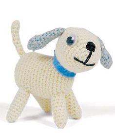 Playful puppy. Free Crochet pattern. So CUTE!!